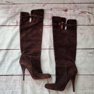 Joan & David Dameranda Suede Knee High Boots 8.5